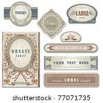 set of ornate vintage labels | Shutterstock .eps vector #77071735