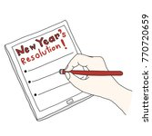 new year's resolution concept... | Shutterstock .eps vector #770720659