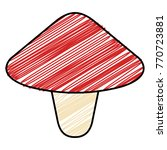 cute fungus isolated icon | Shutterstock .eps vector #770723881