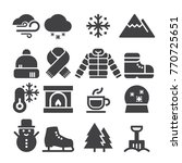 winter icons  black edition  | Shutterstock .eps vector #770725651