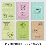collection of sale banners ... | Shutterstock .eps vector #770736091