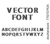3d font vector | Shutterstock .eps vector #770737924