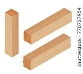 lumber beam plank | Shutterstock .eps vector #770737954