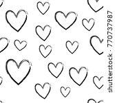heart seamless pattern | Shutterstock .eps vector #770737987