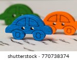 colorful tiny cars depicting... | Shutterstock . vector #770738374