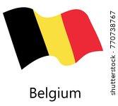 belgium flag vector   Shutterstock .eps vector #770738767