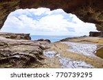 the onigajo rocks were believed ... | Shutterstock . vector #770739295