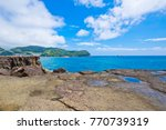 the onigajo rocks were believed ... | Shutterstock . vector #770739319