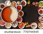 chinese medicinal herb hotpot | Shutterstock . vector #770744545