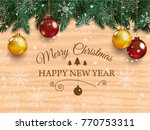 christmas card with detailed... | Shutterstock .eps vector #770753311
