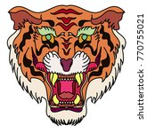 tiger head vector isolate on... | Shutterstock .eps vector #770755021