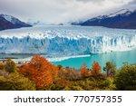 the perito moreno glacier is a...   Shutterstock . vector #770757355