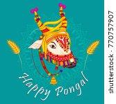 vector design of happy pongal...   Shutterstock .eps vector #770757907