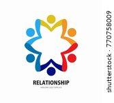 social network team partners... | Shutterstock .eps vector #770758009