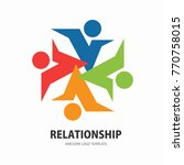 social network team partners... | Shutterstock .eps vector #770758015