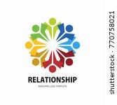 social network team partners... | Shutterstock .eps vector #770758021