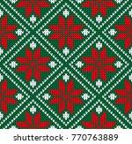 seamless winter sweater norway...   Shutterstock .eps vector #770763889