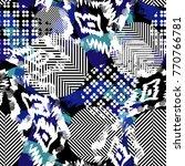 seamless pattern ethnic design. ... | Shutterstock . vector #770766781