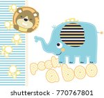 playing peek a boo with little...   Shutterstock .eps vector #770767801