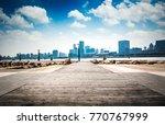 shanghai skyline in sunny day ... | Shutterstock . vector #770767999