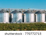 modern granary  grain drying... | Shutterstock . vector #770772715
