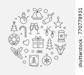 vector happy new year circular...   Shutterstock .eps vector #770778931