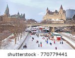 rideau canal skating rink in... | Shutterstock . vector #770779441