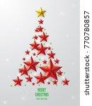 christmas tree illustration  | Shutterstock .eps vector #770780857