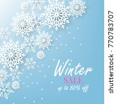winter christmas snowflake... | Shutterstock .eps vector #770783707