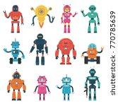set of robot characters | Shutterstock .eps vector #770785639