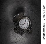 pocket watch on a chain | Shutterstock . vector #770787124