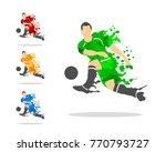 vector illustration of soccer... | Shutterstock .eps vector #770793727