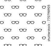 seamless pattern with black...   Shutterstock .eps vector #770798905