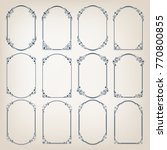 set of vintage circle frames... | Shutterstock .eps vector #770800855
