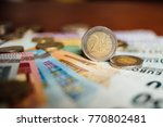 europe on the two euro coin the ... | Shutterstock . vector #770802481