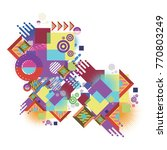 abstract vector of geometric... | Shutterstock .eps vector #770803249