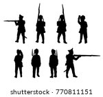 russian line infantry. soldiers ... | Shutterstock .eps vector #770811151