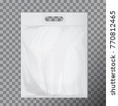 empty white blank plastic bag...   Shutterstock .eps vector #770812465