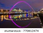 newcastle pink bridge across... | Shutterstock . vector #770812474
