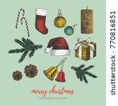 merry christmas illustration....   Shutterstock .eps vector #770816851