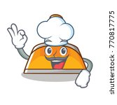 chef dustpan character cartoon... | Shutterstock .eps vector #770817775