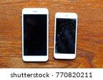 two smartphones  one brand new... | Shutterstock . vector #770820211