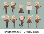 set of male character in casual ...   Shutterstock .eps vector #770821801