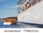 several lifeboats on large... | Shutterstock . vector #770825131