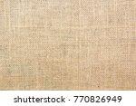burlap texture background | Shutterstock . vector #770826949