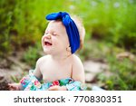 sweet baby smile emotion lovely ... | Shutterstock . vector #770830351