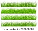 large set of fresh green spring ... | Shutterstock .eps vector #770830507