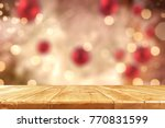 table background and christmas... | Shutterstock . vector #770831599