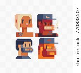pixel art style video game... | Shutterstock .eps vector #770833507