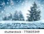 table background and winter... | Shutterstock . vector #770835349